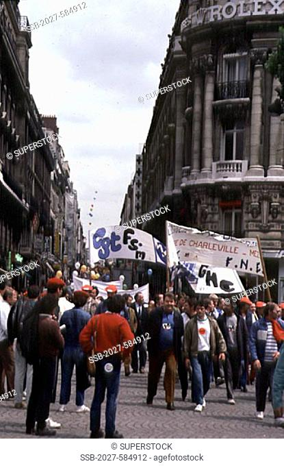 Political DemonstrationParisFrance