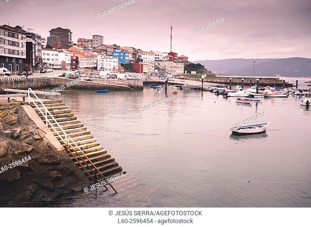 Boats in the port of Finisterre, A Coruña, Galicia, Spain