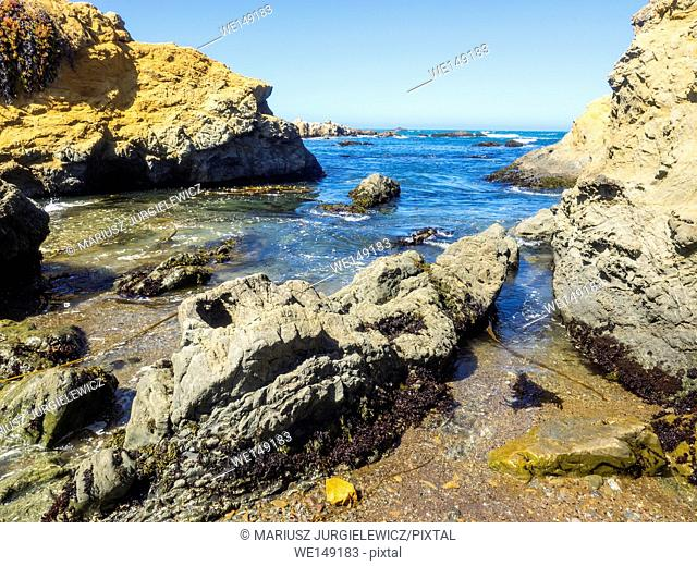 Glass Beach is a beach in MacKerricher State Park near Fort Bragg, California that is abundant in sea glass created from years of dumping garbage into an area...