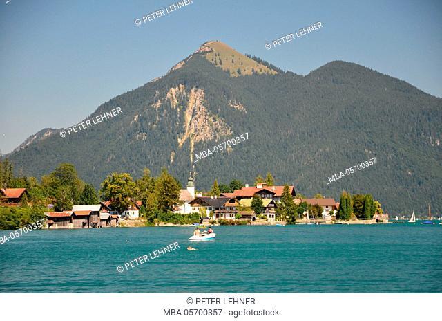 Germany, Bavaria, alpine upland, Walchensee, summer