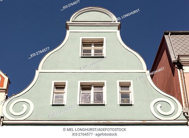Building in Kropeliner Strasse, Rostock, Mecklenburg-Vorpommern, Germany