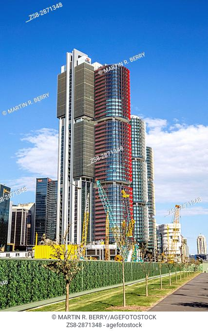 Barangaroo in Sydney city centre with high rise skyscraper towers,Sydney,Australia