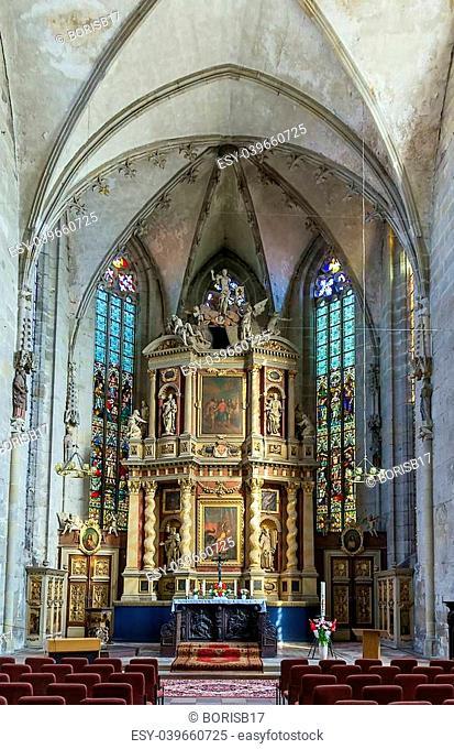 Interior church Marktkirche in Quedlinburg, Germany
