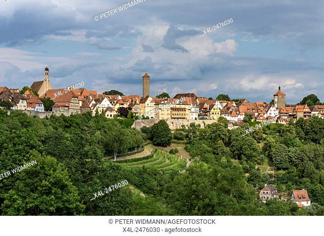 Views of Rothenburg ob der Tauber, Bavaria, Germany, Europe