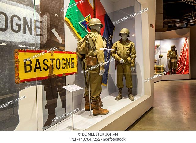 The Bastogne War Museum devoted to the Second World War Two in the Belgian Ardennes, Belgium