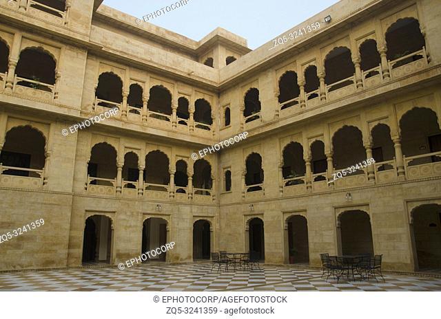 Open area, the Desert Palace Hotel, Jaisalmer, Rajasthan, India
