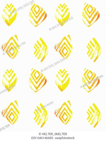 Hand drawn vector abstract freehand textured seamless minimalism pattern collage with zebra motif,organic textures,triangles isolated on white background