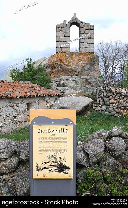 Villaviciosa de Avila (Solosancho municipality), cimbanillo (16th century). Avila province, Castilla y Leon, Spain
