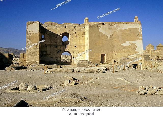 Torre de la Odalisca, Alcazaba fortress, Almeria  Andalucia, Spain