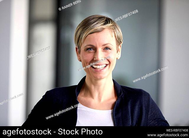 Portrait of a happy businesswoman in office