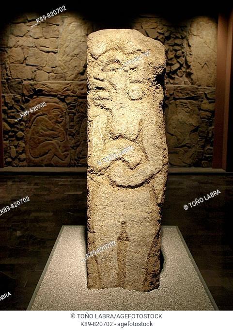 Monte Alban stela. Museo Nacional de Antropologia. Ciudad de Mexico