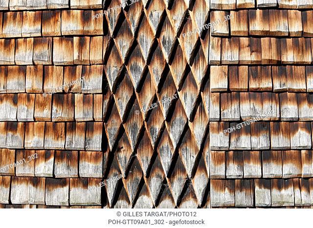 tourism, France, upper normandy, eure, bernay, church, abbey church apse, chestnut log siding Photo Gilles Targat