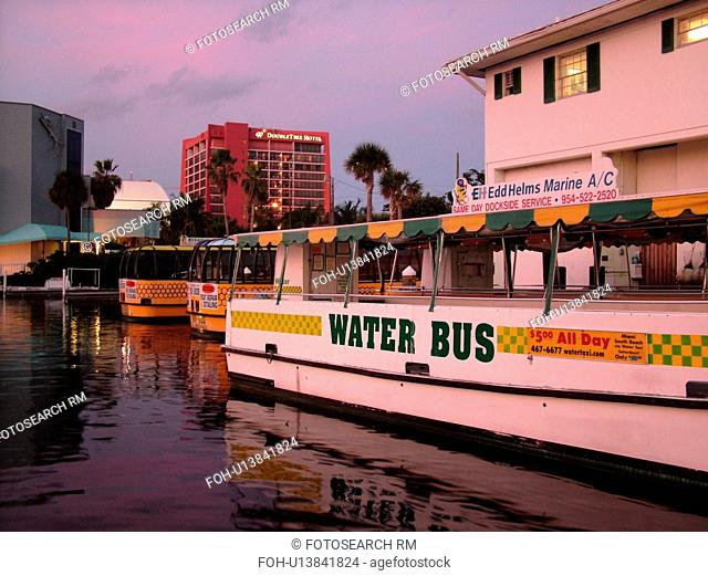 Fort Lauderdale, FL, Florida, New River, Intracoastal Waterway, Water Bus