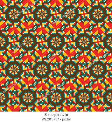 Geometric pattern with colorful abstract shapes