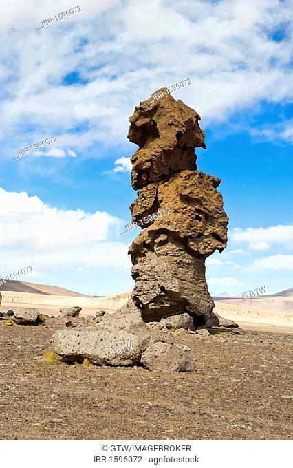 Monjes de la Pacana, Pacana Monks, stone pillars, Los Flamencos National reserve, Atacama desert, Antofagasta region, Chile, South America