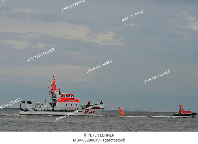 Germany, the North Sea, sea rescue, exercise, rescue lifeboat, Ship's boat