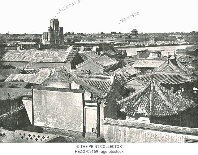 'General view showing the ruins of the Cathedral', Tien-Tsin, China, 1895. Creator: W & S Ltd