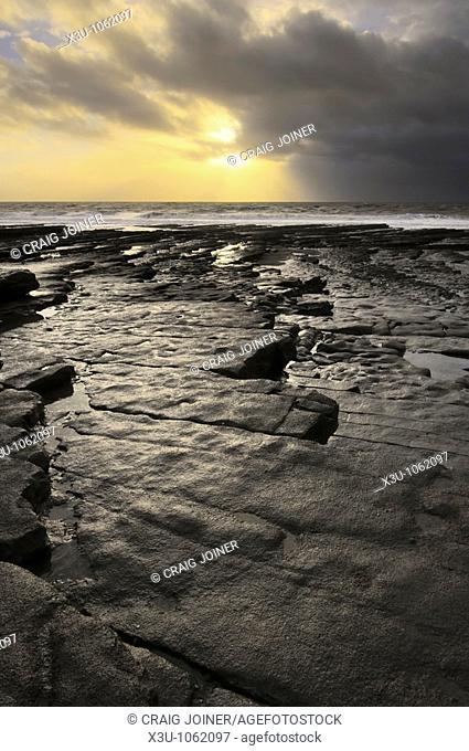 Nash Point on the Glamorgan Heritage Coast near St Donat's, Glamorgan, Wales, United Kingdom