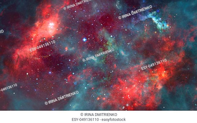 Image of the nebula in deep space. Elements of this image furnished by NASA
