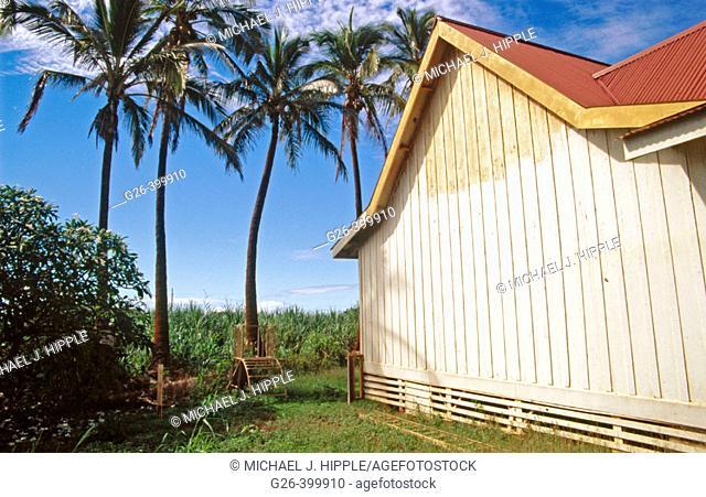 Historic methodist church near Waimea. Kauai Island. Hawaii. USA