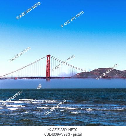Misty Golden Gate bridge, San Francisco, California, USA