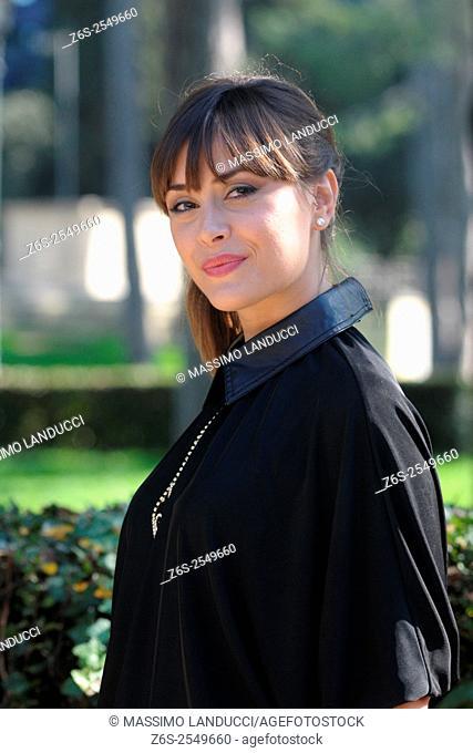 Fatima Trotta; trotta; actress; celebrities; 2015; rome; italy; event; photocall ; matrimonio al sud