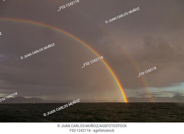 Rainbow over False Bay, South Africa