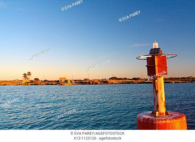 The view of the beach of Tiburon in Illetas, in the island of Formentera Baleares, Spain