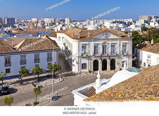 Portugal, Faro, View of Largo da Se