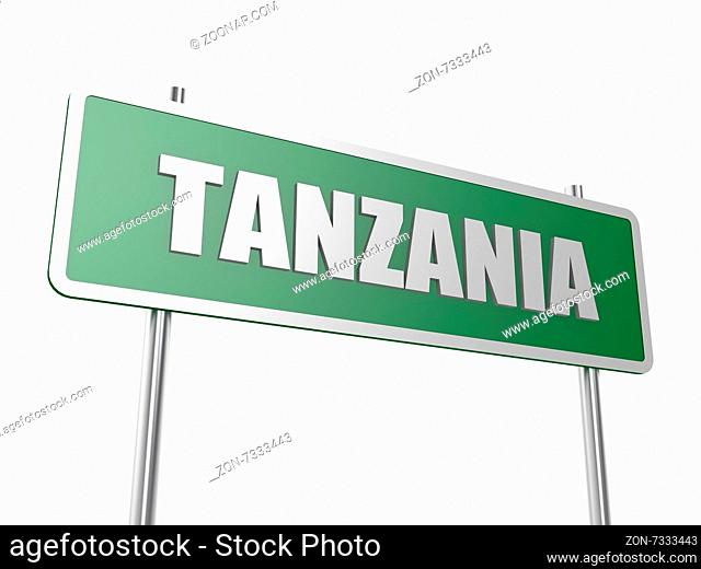 Tanzania image with hi-res rendered artwork that could be used for any graphic design