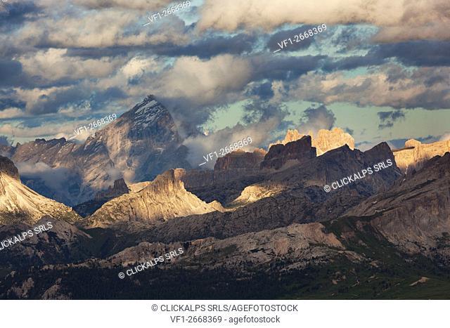 Ampezzo Dolomites from Sass Ciampac, Badia Valley, South Tyrol, Italy