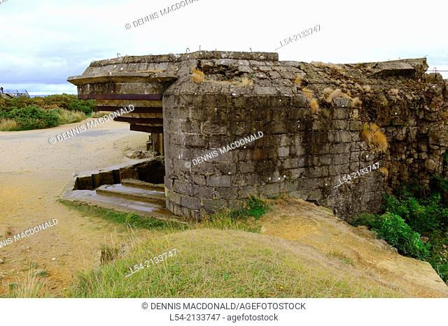 Bunker Omaha Beach Normandy American Cemetery France Colleville Sur Mer FR Europe WWII