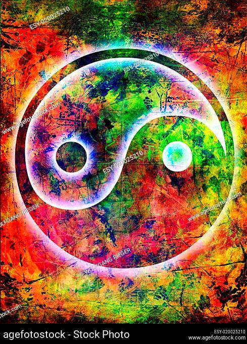 Yin und Yang - background grunge