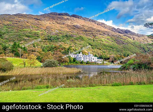 Kylemore Abbey is a Benedictine monastery founded in 1920 on the grounds of Kylemore Castle, County Galway, Ireland