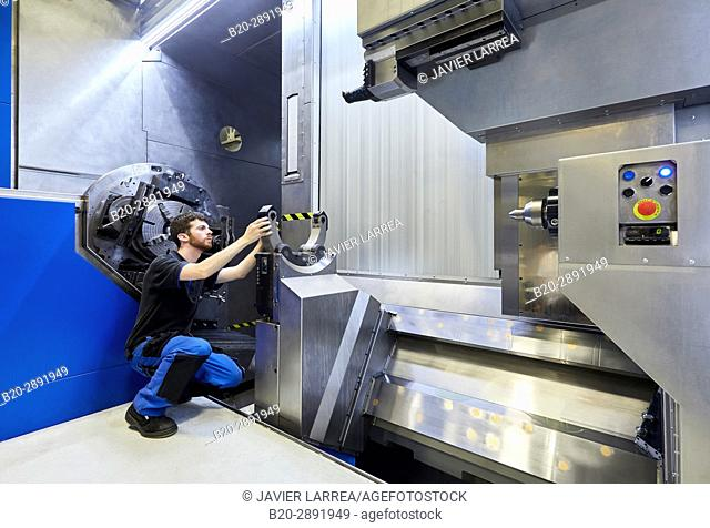 Machining Centre. CNC. Horizontal turning and Milling lathe. Design, manufacture and installation of machine tools. Gipuzkoa, Basque Country, Spain, Europe