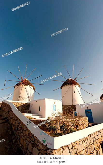 Windmills, Mykonos Town, Cyclades, Greece