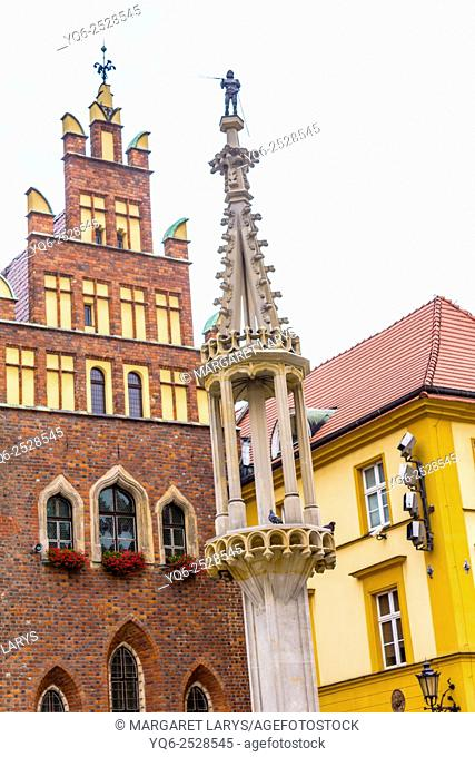 Architecture of the Old Market Square in Wroclaw, Poland