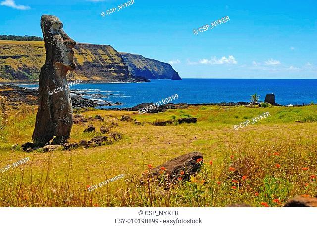 Moai in Rapa Nui, Easter Island