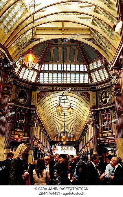 Leadenhall Market in the City, London, England, UK, Europe