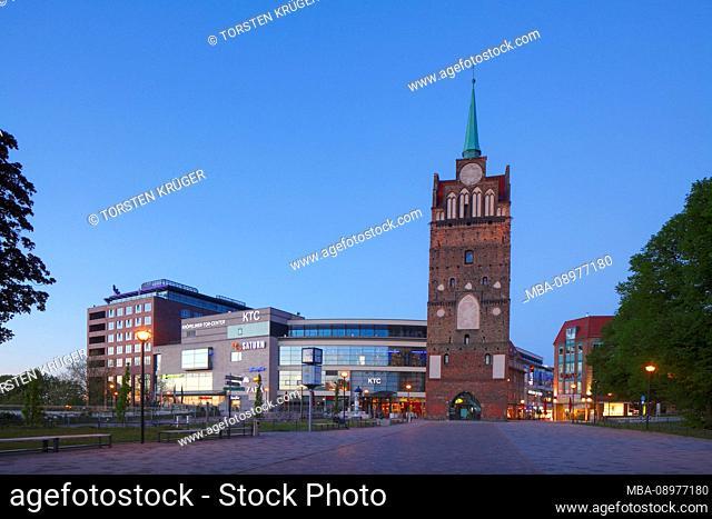 Kröpeliner Tor Center Rostock KTC and Kröpeliner Tor, Rostock, Mecklenburg-Vorpommern, Germany, Europe
