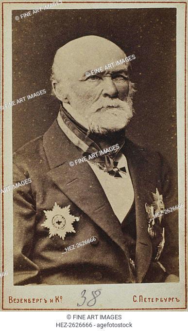 Portrait of Nikolay Ivanovich Pirogov (1810-1881). Artist: Photo studio Wesenberg