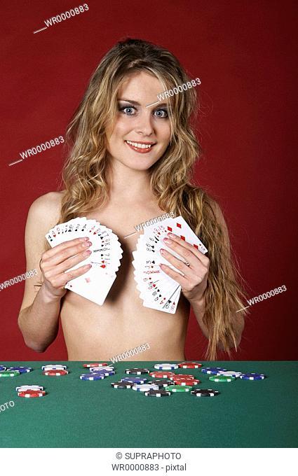 Woman strip poker