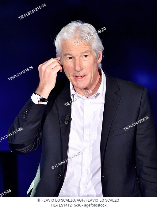 The actor Richard Gere guest at tv programme Che tempo che fa, Milan, ITALY-13-12-2015