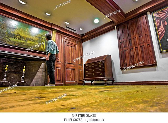 Man standing in an empty room