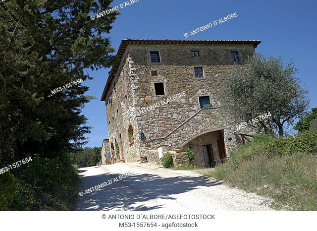 Country home in the village of Tregole  Province of Siena  Tuscany  Italy