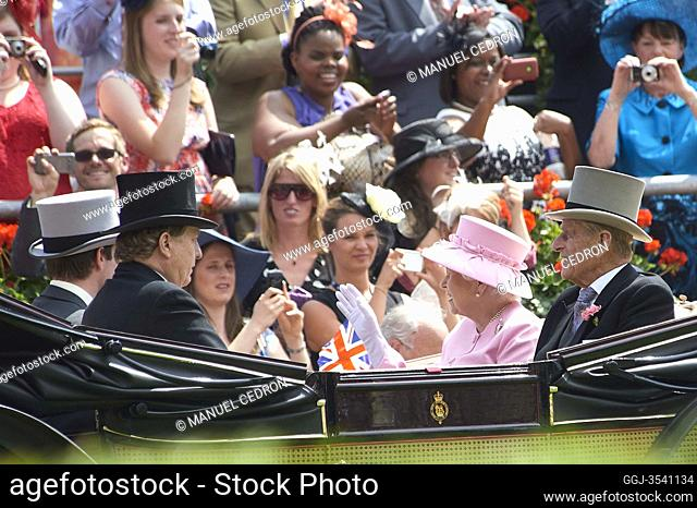 Queen Elisabeth II and Prince Philip, The Duke of Edinburgh Attend The Second Day Of Royal Ascot on June 20, 2012 in Ascot, England