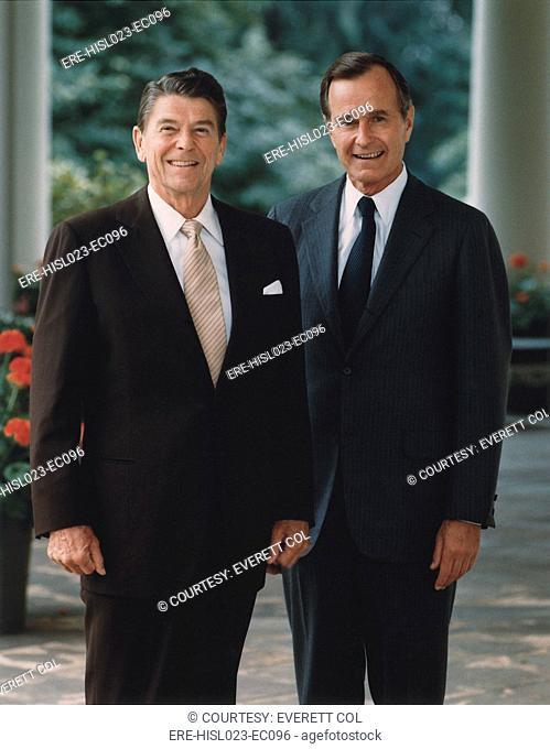 Official Portrait of President Reagan and Vice-President Bush. July 16 1981. PO-USP-Reagan-Bush-NA-12-0070M