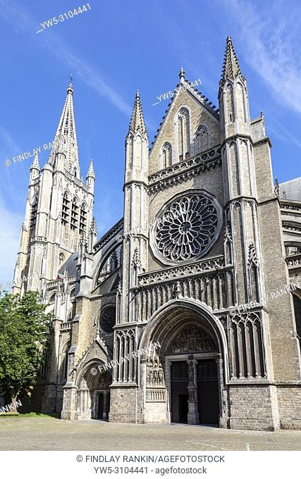 Exterior of St martins Cathedral, St Maartins Kathredraal, Ypres cathedral, Ypres, Belgium