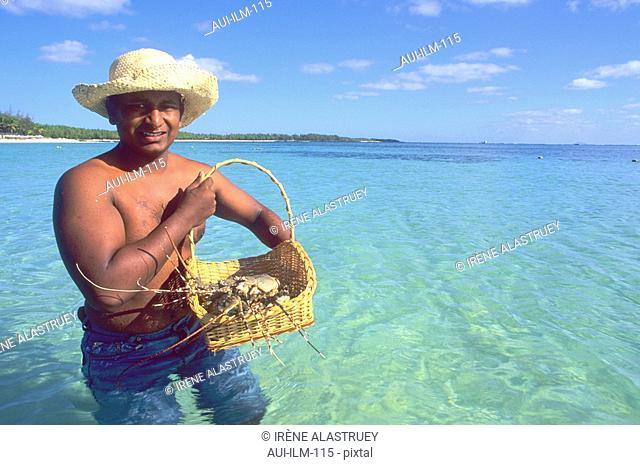Mauritius - East Region - Rock lobster - fisherman