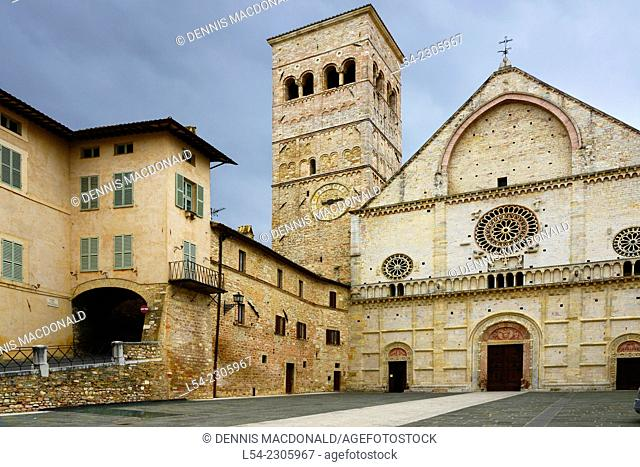 San Rufino Cathedral Assisi Italy Tuscany Umbria IT EU Europe